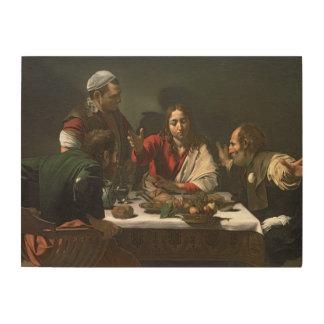 La cena en Emmaus, 1601 (aceite y tempera) Cuadros De Madera