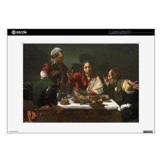 La cena en Emmaus, 1601 (aceite y tempera) Calcomanías Para Portátiles
