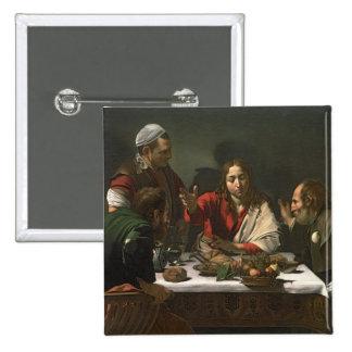 La cena en Emmaus, 1601 (aceite y tempera) Pin Cuadrada 5 Cm