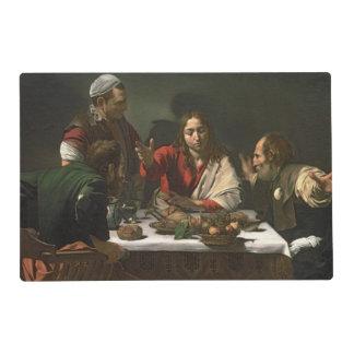 La cena en Emmaus, 1601 (aceite y tempera) Tapete Individual