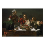La cena en Emmaus, 1601 Posters