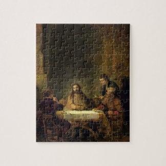 La cena en Emmaus, 1648 (aceite en el panel) Puzzles