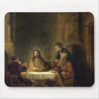 La cena en Emmaus, 1648 (aceite en el panel) Tapete De Ratones