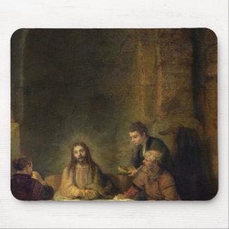 La cena en Emmaus, 1648 Alfombrillas De Ratón