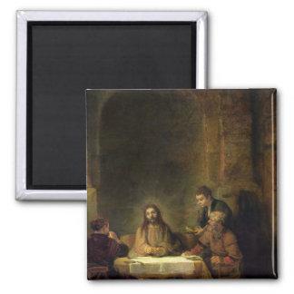 La cena en Emmaus, 1648 Imán Cuadrado