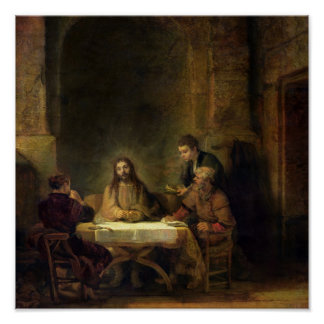 La cena en Emmaus, 1648 Póster