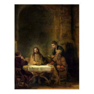 La cena en Emmaus, 1648 Tarjeta Postal