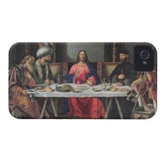 La cena en Emmaus (aceite en el panel) Funda Para iPhone 4