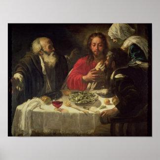 La cena en Emmaus, c.1614-21 Posters