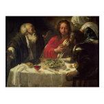 La cena en Emmaus, c.1614-21 Tarjetas Postales