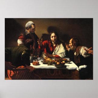 La cena en Emmaus Posters