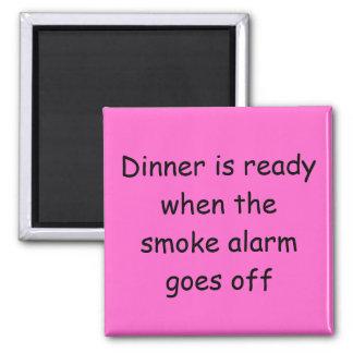 La cena es imán listo