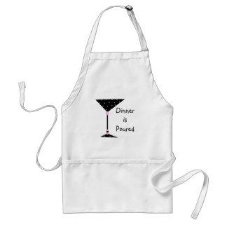 """La """"cena es"""" Martini vertido personalizó el delant Delantales"""