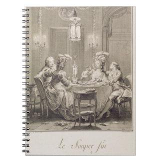La cena fina, 1781, grabado por I.S. Helman (17 Libro De Apuntes Con Espiral