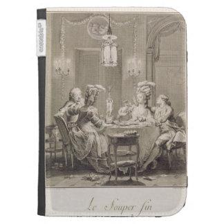 La cena fina, 1781, grabado por I.S. Helman (17