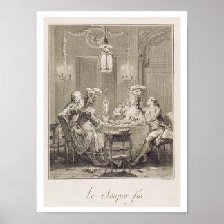 La cena fina, 1781, grabado por I.S. Helman (17 Impresiones