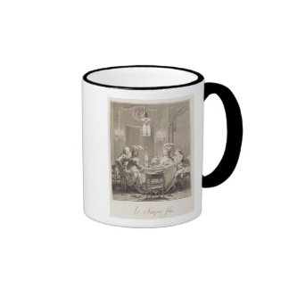La cena fina, 1781, grabado por I.S. Helman (17 Taza De Café