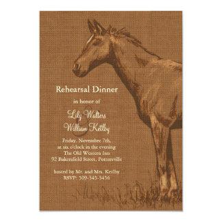 La cena rústica encantadora del ensayo del caballo anuncio personalizado