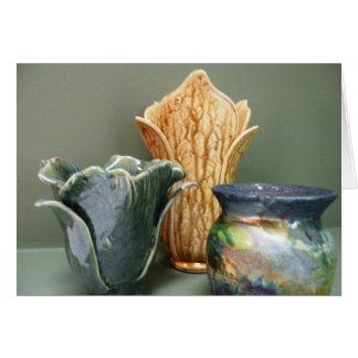 La cerámica diseña la tarjeta de nota