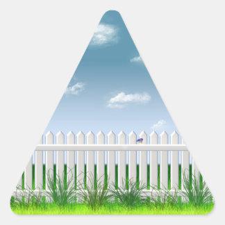 La cerca del jardín pegatinas de trianguladas