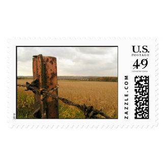 La cerca del país sellos postales