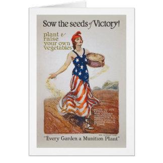 La cerda de la libertad del jardín de victoria tarjeta de felicitación
