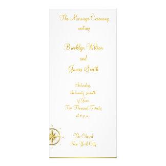 La ceremonia de boda náutica blanca programa la tarjetas publicitarias personalizadas