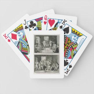 La ceremonia de boda y la manera del divorcio aden barajas de cartas
