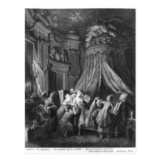La ceremonia de la ir-a-cama de la novia tarjetas postales