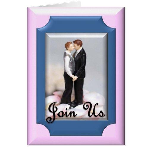 La ceremonia/el boda del compromiso invita felicitacion