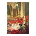La ceremonia en el panteón lona envuelta para galerías