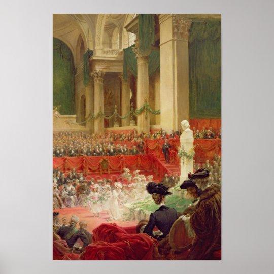La ceremonia en el panteón póster