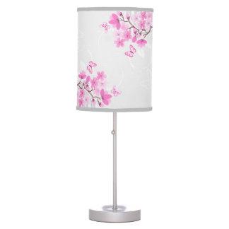 La cereza florece la lámpara de mesa