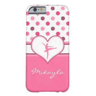 La cereza inspiró al bailarín de ballet rosado de funda para iPhone 6 barely there