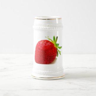 La cereza que la salud de la fruta recuerda la pas taza de café