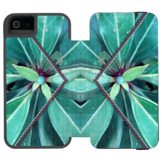 La cereza sale del embrague funda billetera para iPhone 5 watson