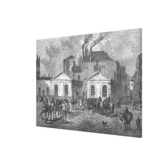 La cervecería de Meux, 1830 Impresión En Lona