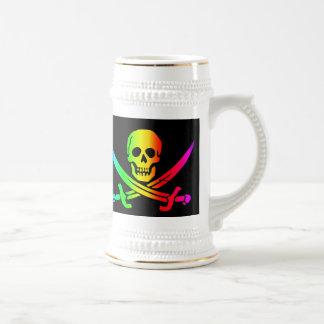 La cerveza alegre Stein de RastafarI Taza