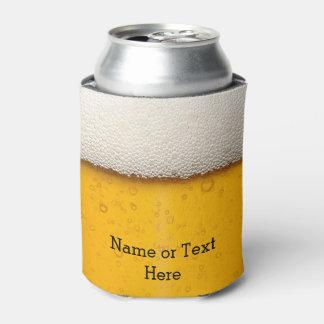 La cerveza burbujea modelo del fondo enfriador de latas