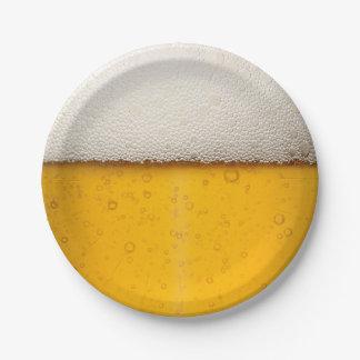 La cerveza burbujea modelo del fondo plato de papel de 7 pulgadas