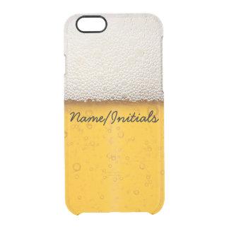 La cerveza burbujea nombre de consumición funda clear para iPhone 6/6S