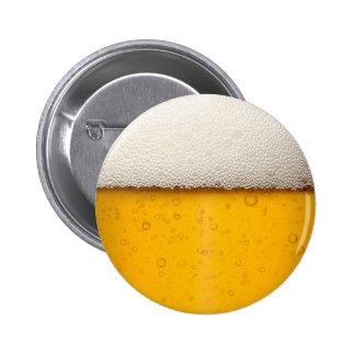 La cerveza burbujea primer pin redondo de 2 pulgadas