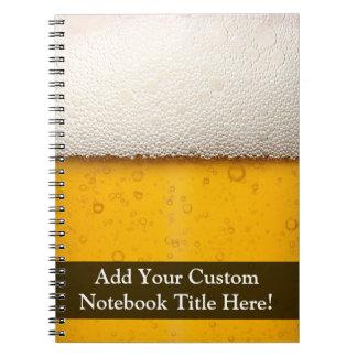La cerveza burbujea primer spiral notebook