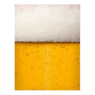 La cerveza burbujea primer postal