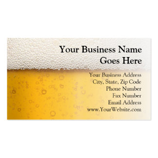 La cerveza burbujea primer tarjetas de visita