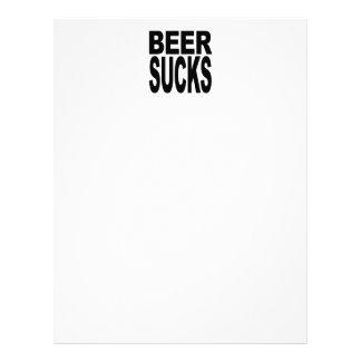 La cerveza chupa plantillas de membrete