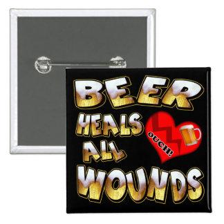 La cerveza cura todos los regalos de las camisetas pin