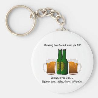 ¡La cerveza de consumición no le hace la grasa! Llavero Redondo Tipo Pin