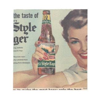 ¡La cerveza de Heilman original del vintage, Libretas Para Notas