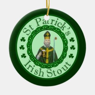 La cerveza de malta irlandesa de St Patrick Adorno De Navidad